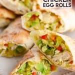 Air Fryer Avocado Chicken Egg Rolls