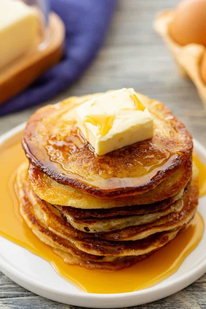 Best Buttermilk Pancake Recipe served with syrup