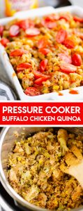 Pressure Cooker Buffalo Chicken Quinoa