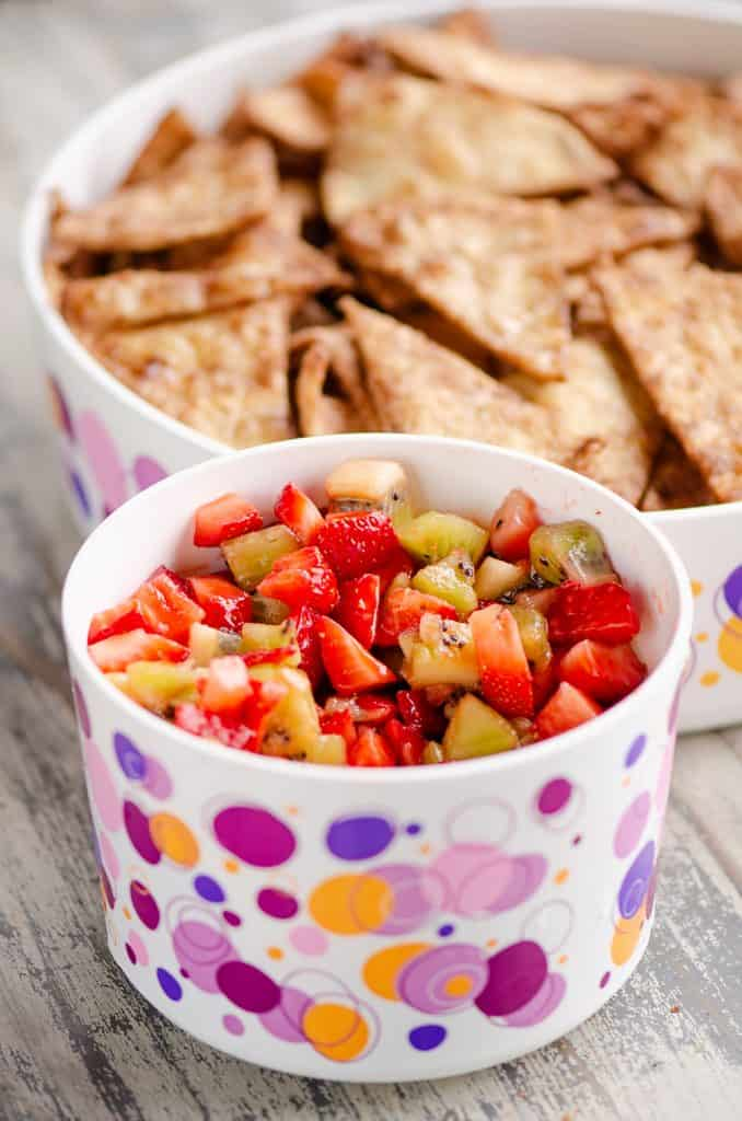 Sweet Strawberry Salsa party appetizer