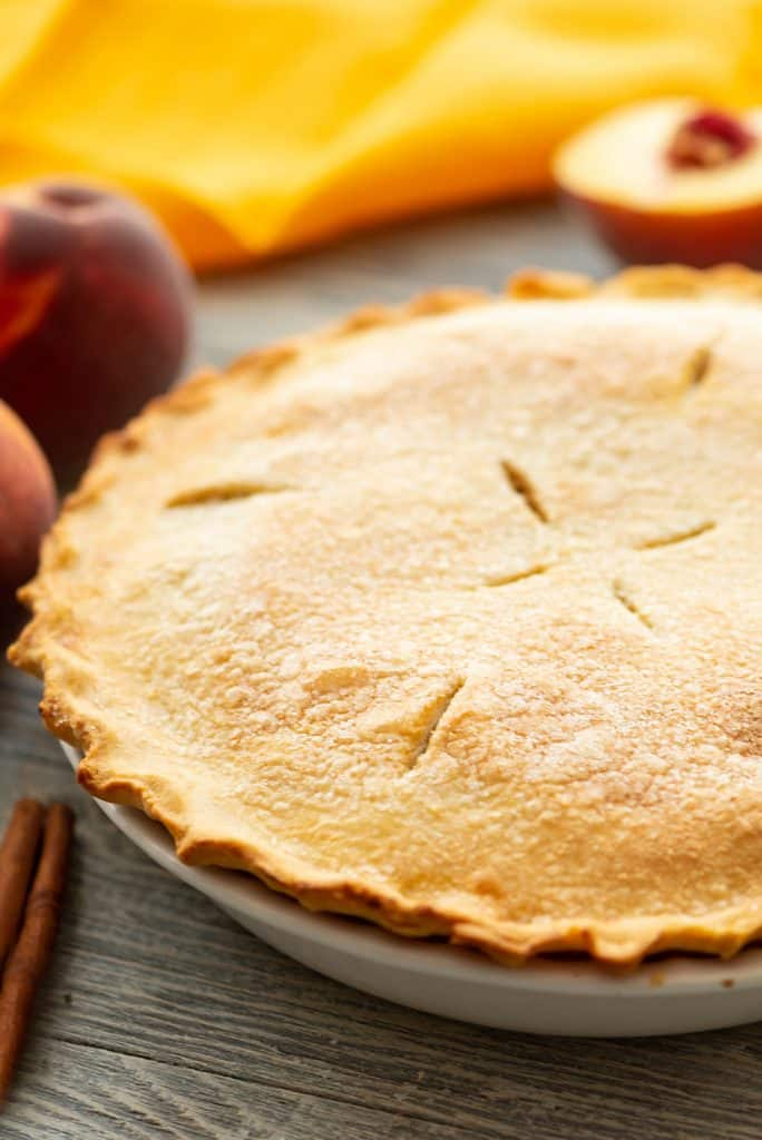 Homemade Peach Whole Pie