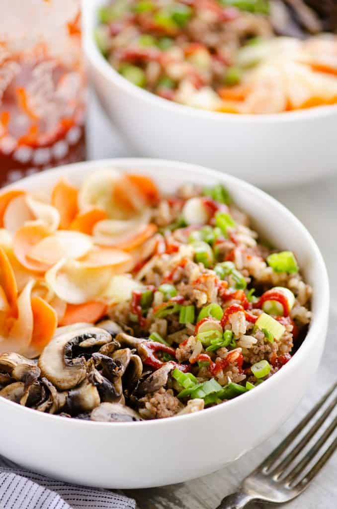Instant Pot Korean Bowl with Sriracha
