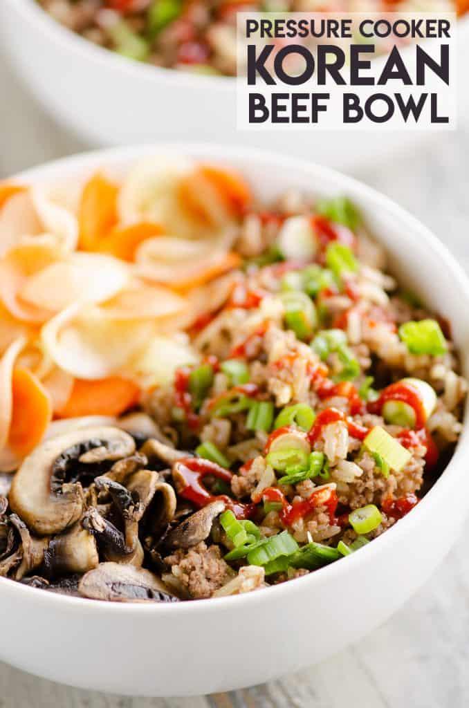 Pressure Cooker Korean Beef Bowl