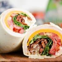 Turkey Bacon Parmesan Ranch Wrap