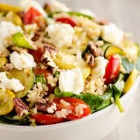 Baked Honey Feta Squash & Brown Rice Salad