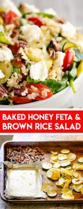 Brown Rice Honey Feta Squash and Brown Rice Salad