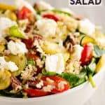 Brown Rice Honey Feta Squash and Brown Rice Salad