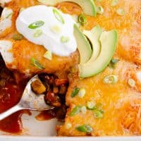 Black Bean & Squash Vegetarian Enchiladas