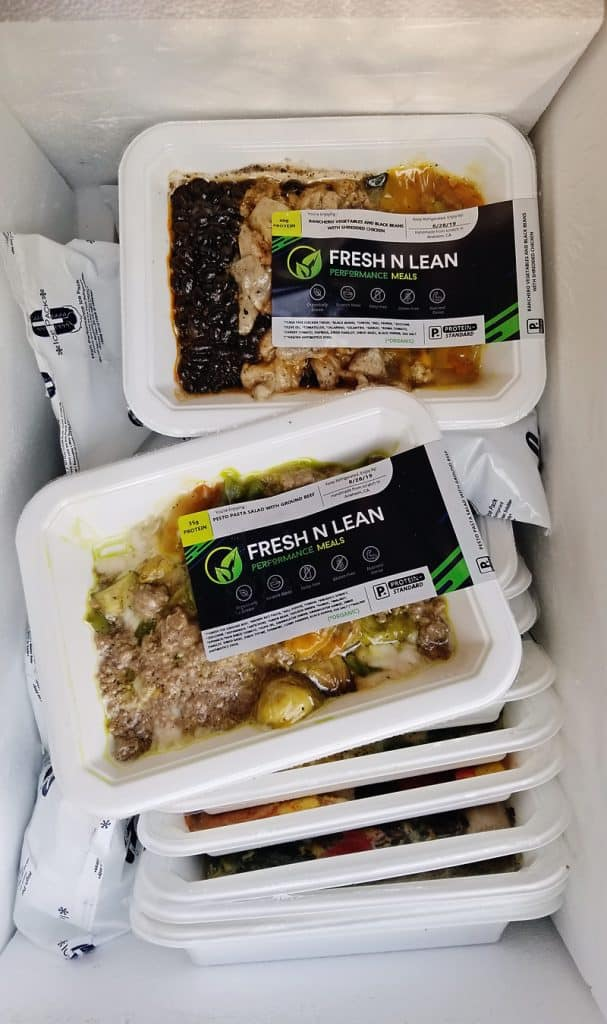 Fresh n' Lean Meal Delivery in cooler box