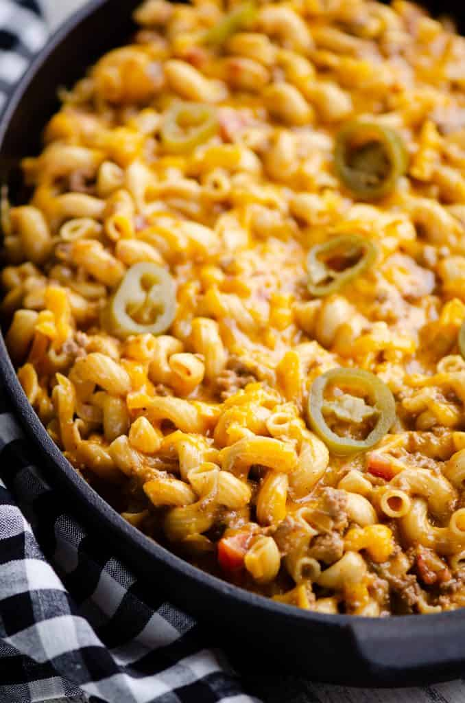 Pressure Cooker Taco Mac and Cheese on table