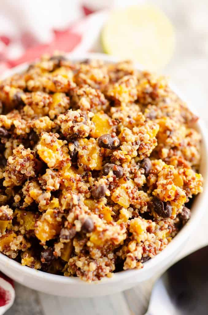 Southwest Quinoa Squash Salad in serving bowl