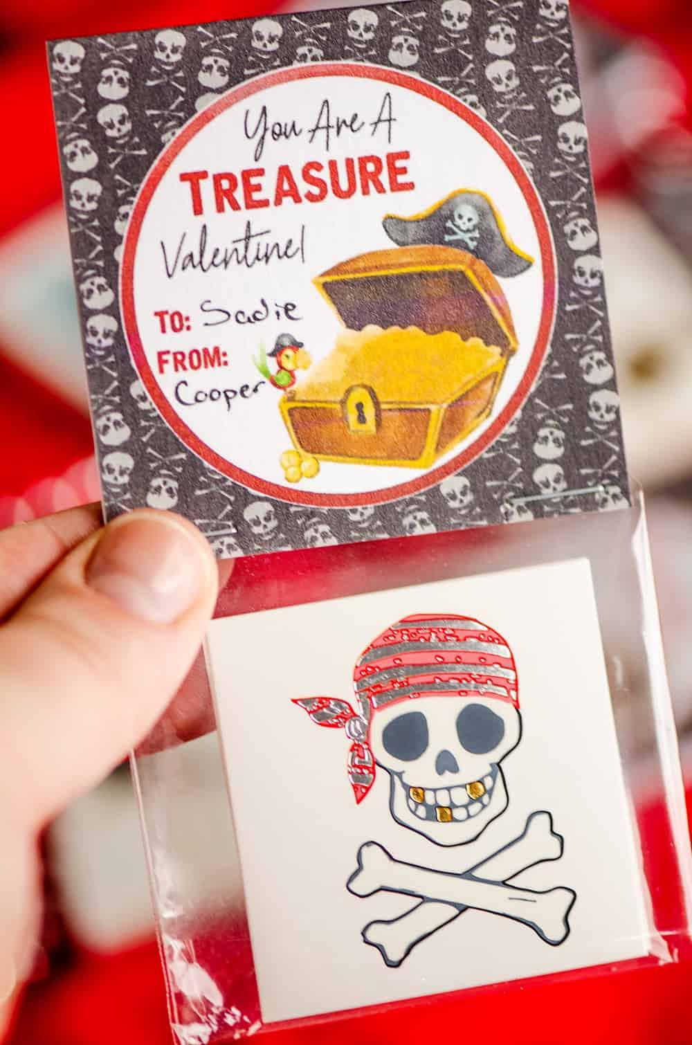 free printable pirate tattoo valentines