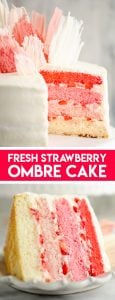 Fresh Strawberry Ombre Cake