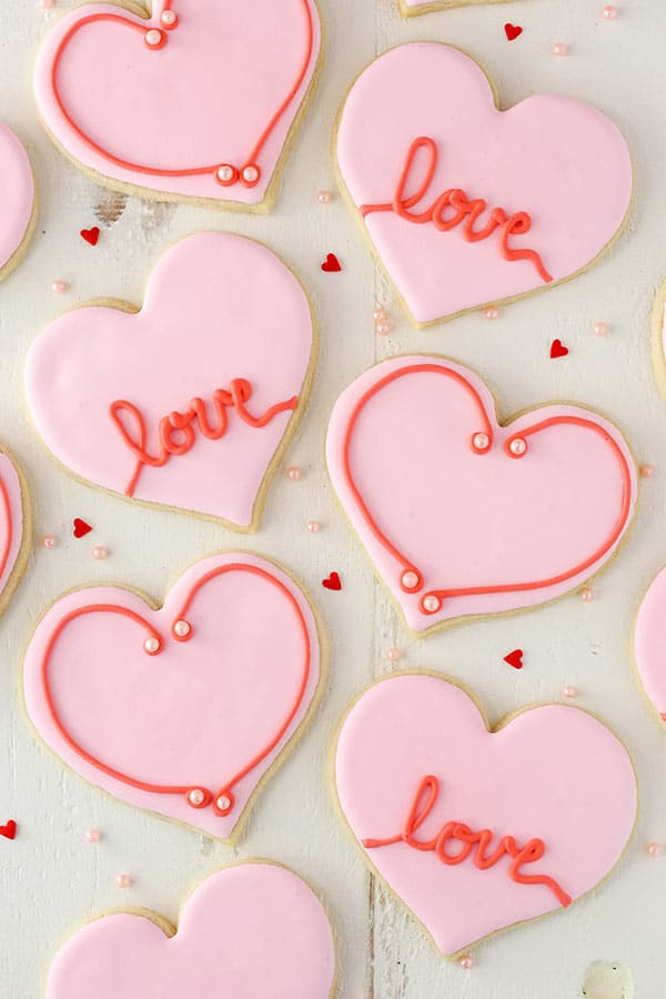 Easy Heart-Shaped Cutout Sugar Cookies