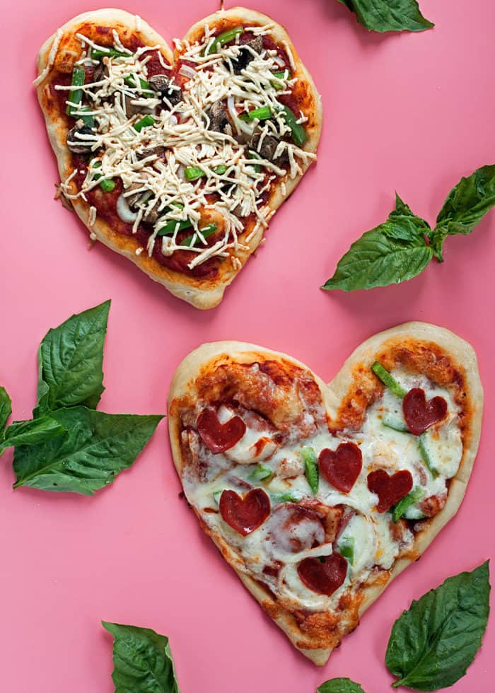 How to Make Heart-Shaped Pizzas
