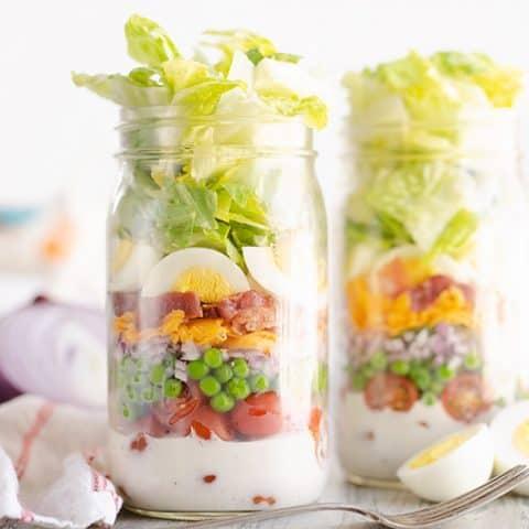 7 Layer Salad in a Jar