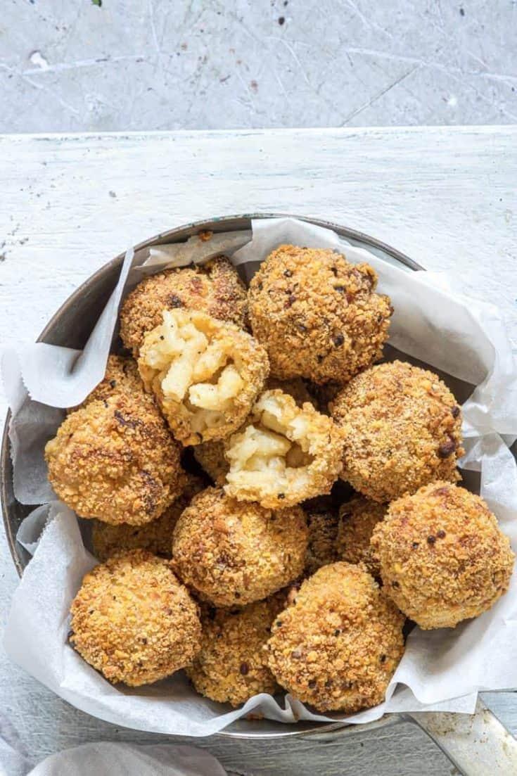 Air Fried Mac and Cheese Balls