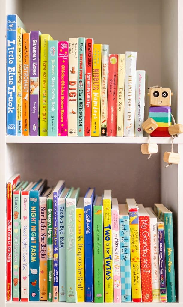 Toddler Home Library full of Board Books
