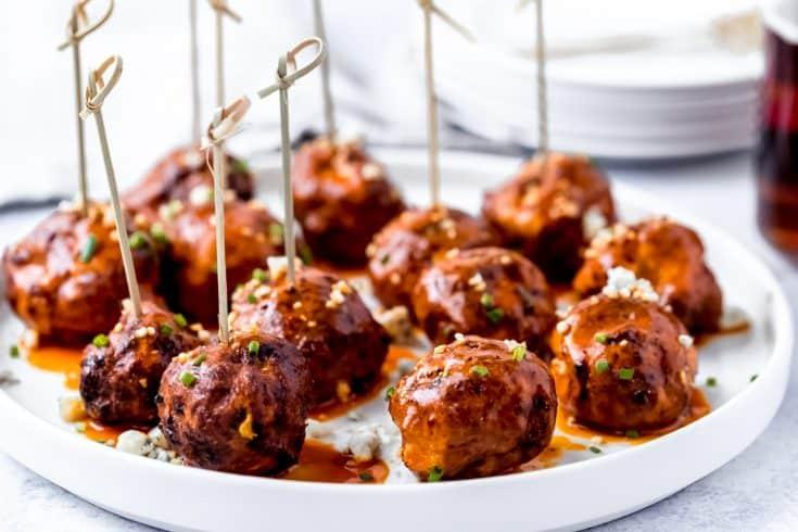 Air Fryer Buffalo Chicken Meatballs