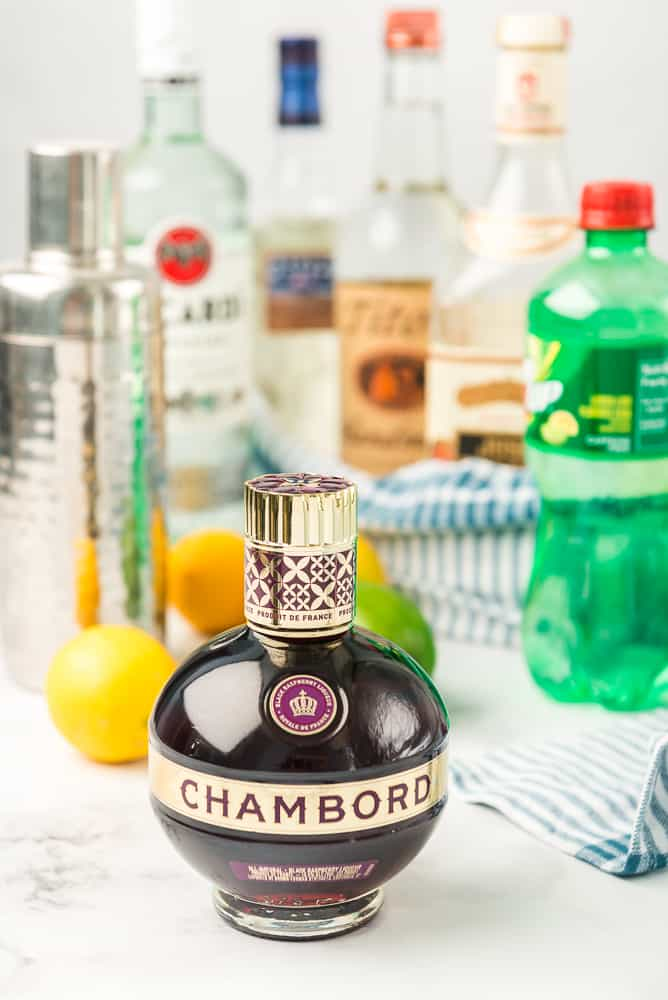 Chambord Liqueur with spirits