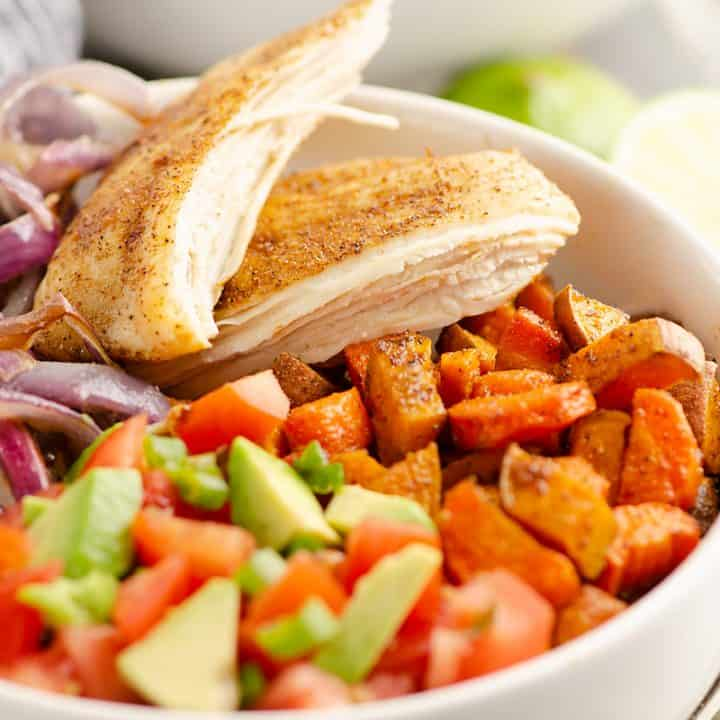 Chipotle Chicken & Root Vegetable Bowls