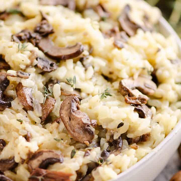 Pressure Cooker Mushroom Risotto