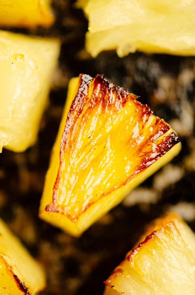 Roasted Pineapple on sheet pan