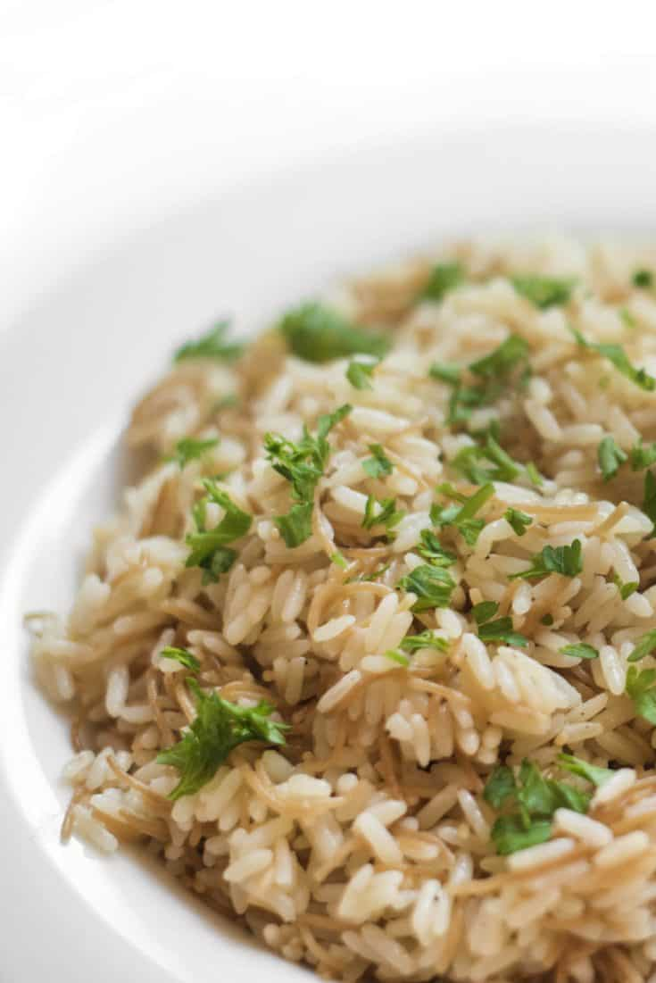 Lebanese Rice Pilaf With Vermicelli - The Lemon Bowl®
