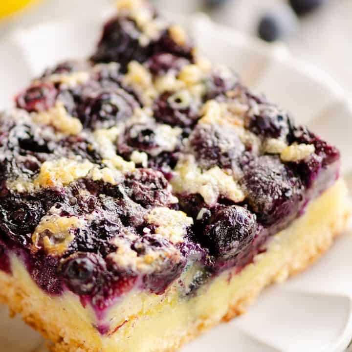 Blueberry Lemon Custard Bars