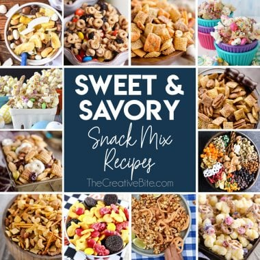 Sweet & Savory Snack Mix Recipes collage