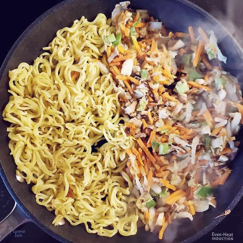 Gobble Japanese Okonomiyaki Yakisoba Noodles in skillet