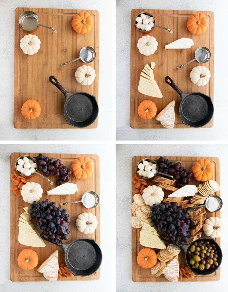Halloween Charcuterie Board Step by Step additions