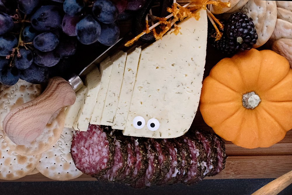 bleu cheese ghost on cheese board
