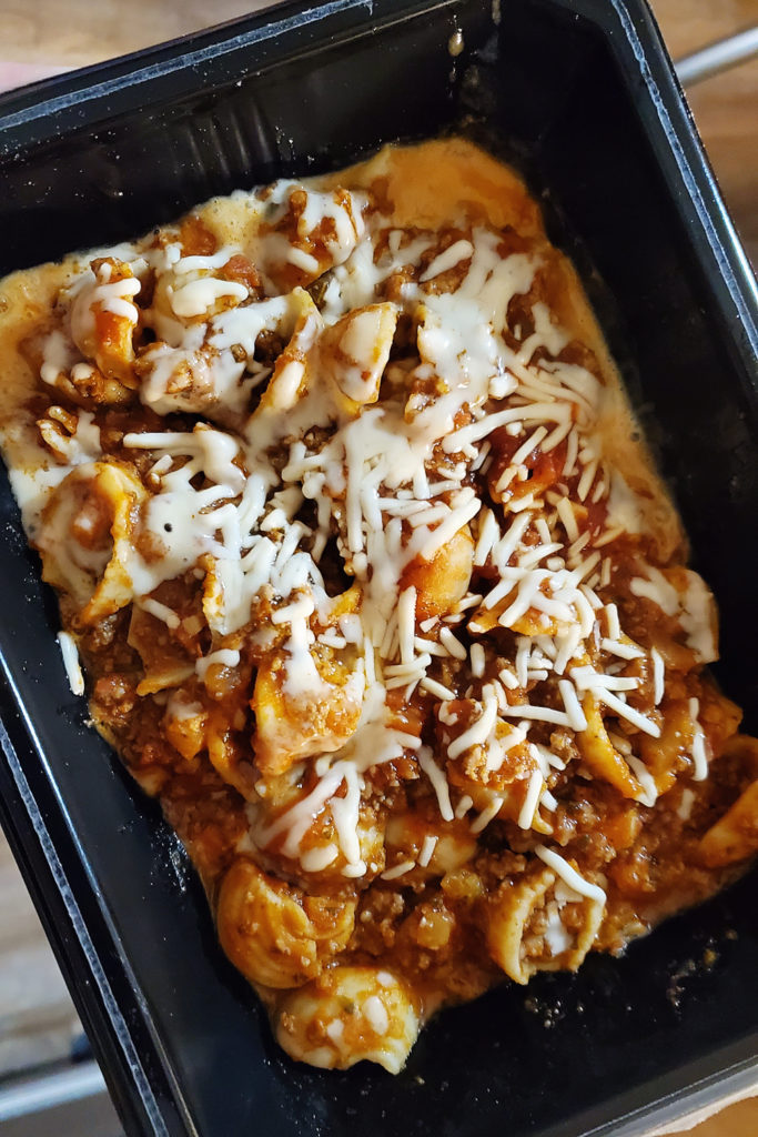 Freshly Cauliflower Shells Bolognese Meal