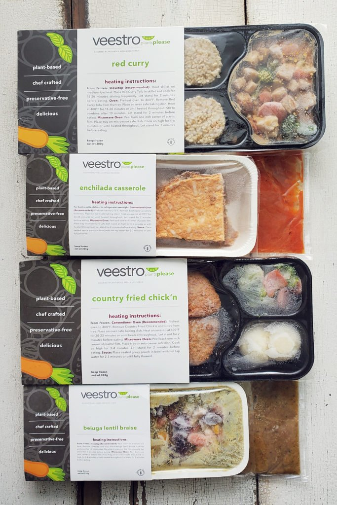 Veestro Plant Based Meals on table