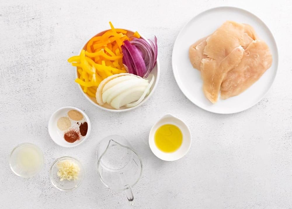 ingredients for chicken fajitas