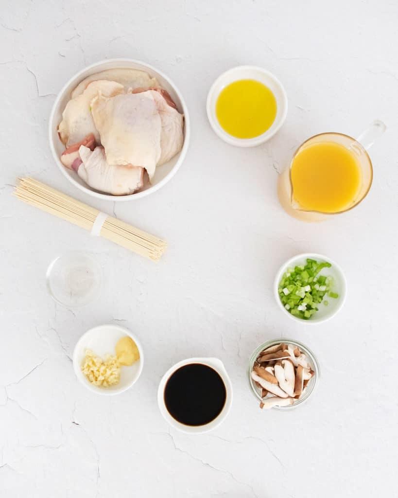 Chicken Ramen ingredients