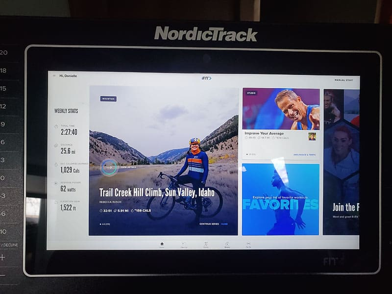 Norditract s15i spin bike screen