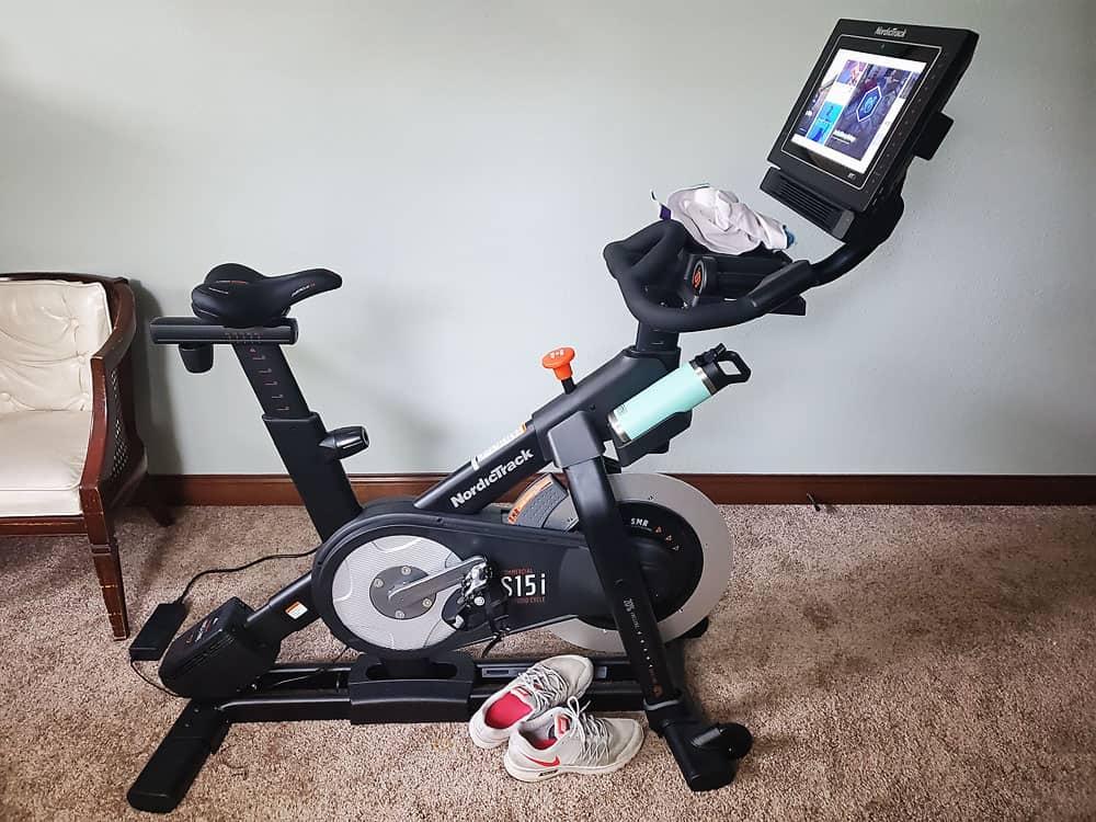 Norditract s15i spin bike in bedroom