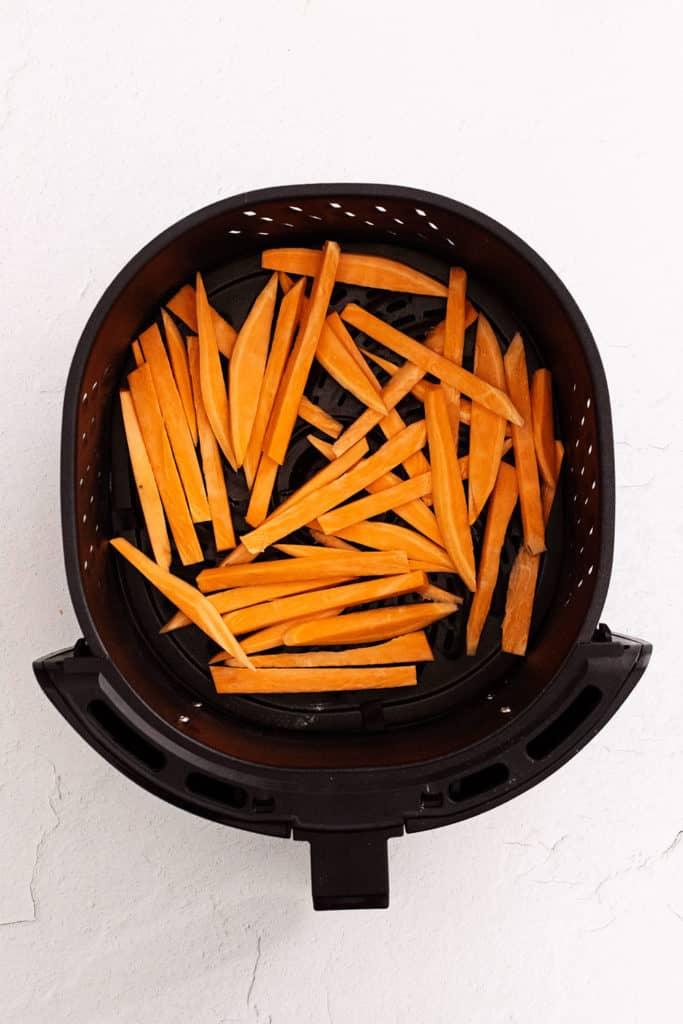 sweet potato fries in air fryer basket