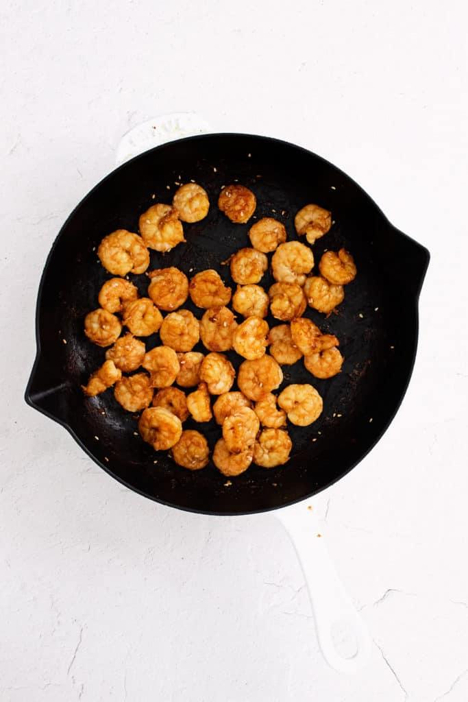 shrimp in cast iron skillet