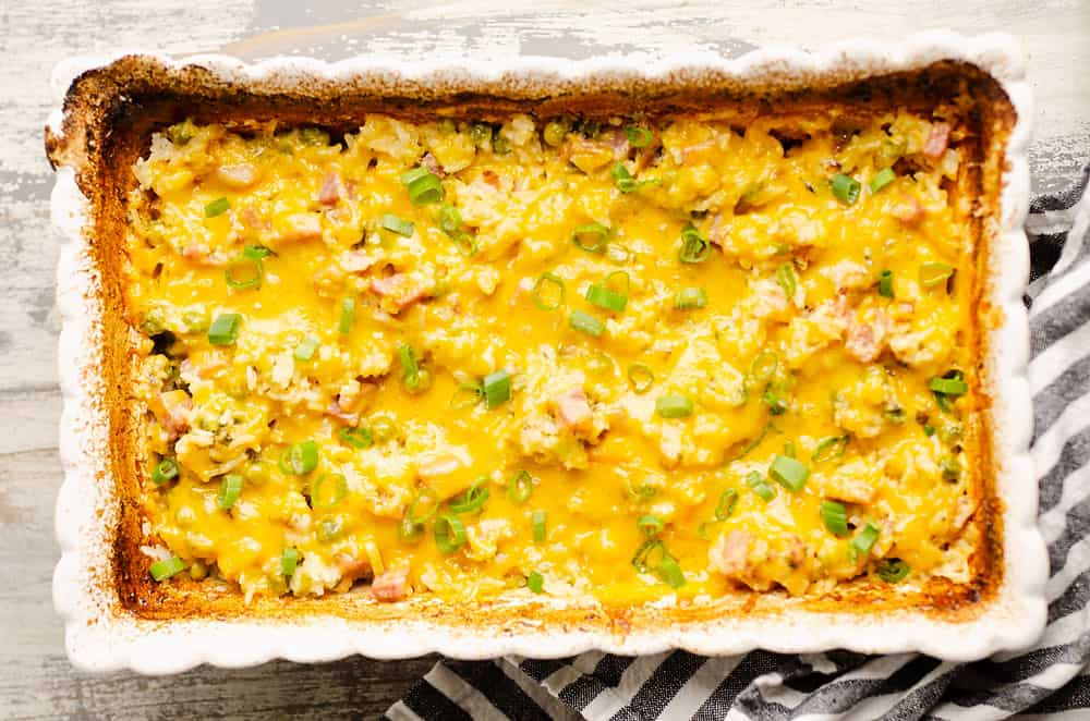 baked ham and cheese casserole