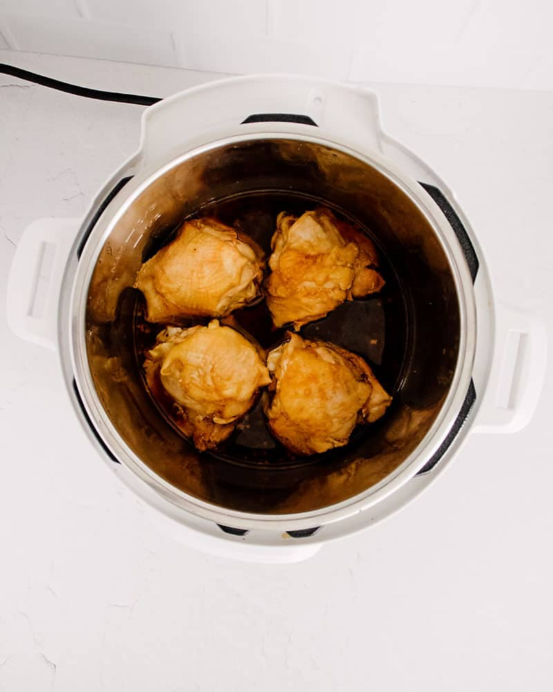 chicken thighs glazed in honey soy sauce