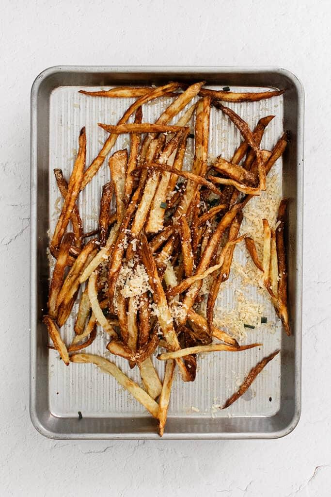 french fries on sheet pan
