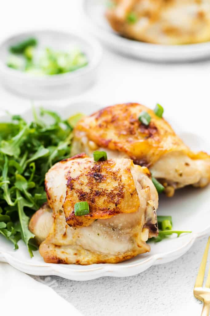 ranch chicken thighs topped with green onions