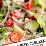 Creamy Greek Chicken Salad in a Jar