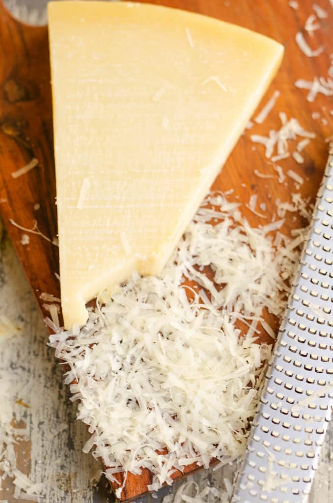 parmesan reggiano grated with microplane